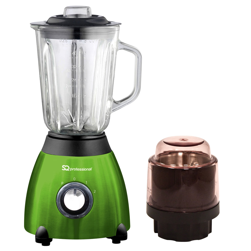 Luminate 500W Blender with 1.5L Glass Measuring Jug & Grinder - Green