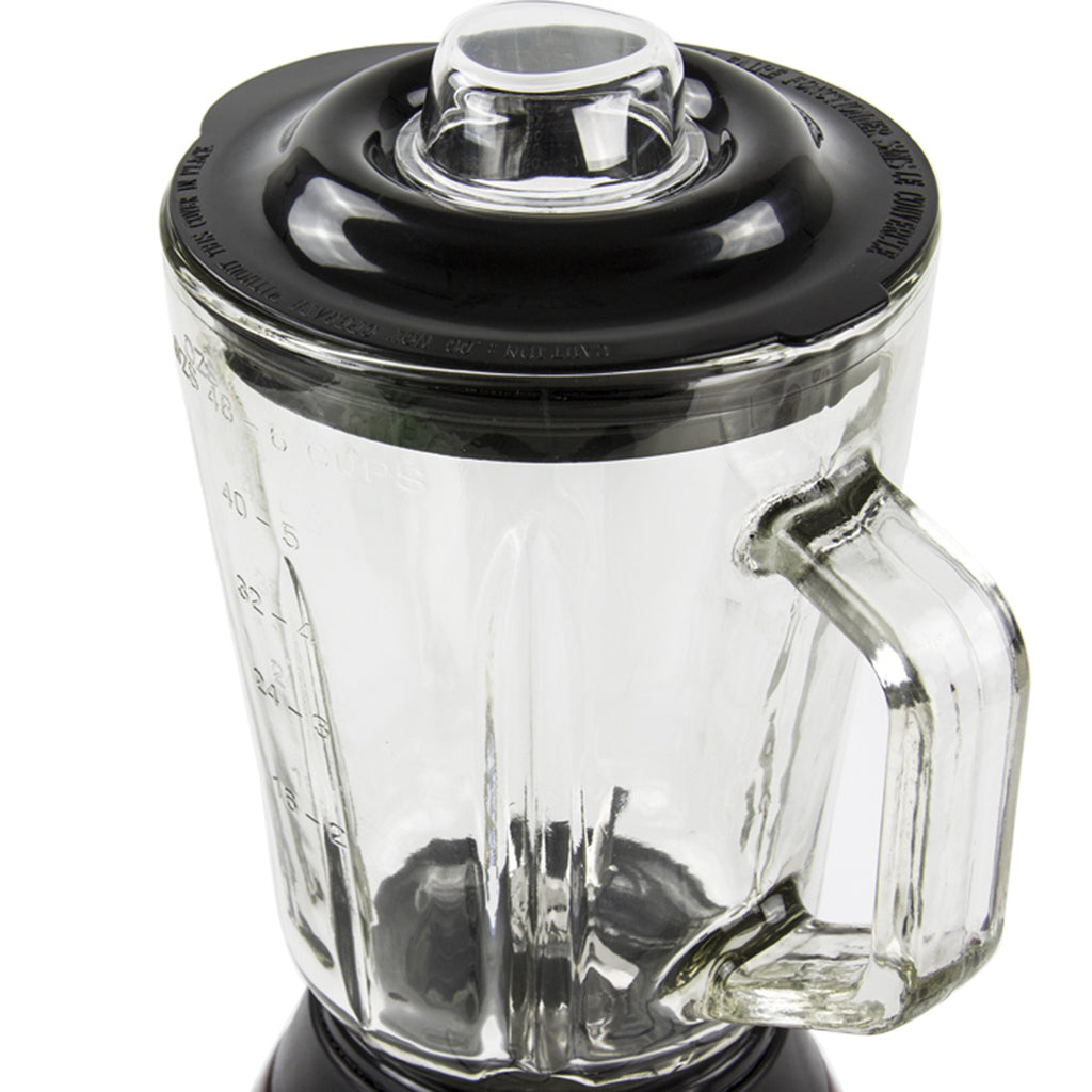 Luminate 500W Blender with 1.5L Glass Measuring Jug & Grinder - Silver