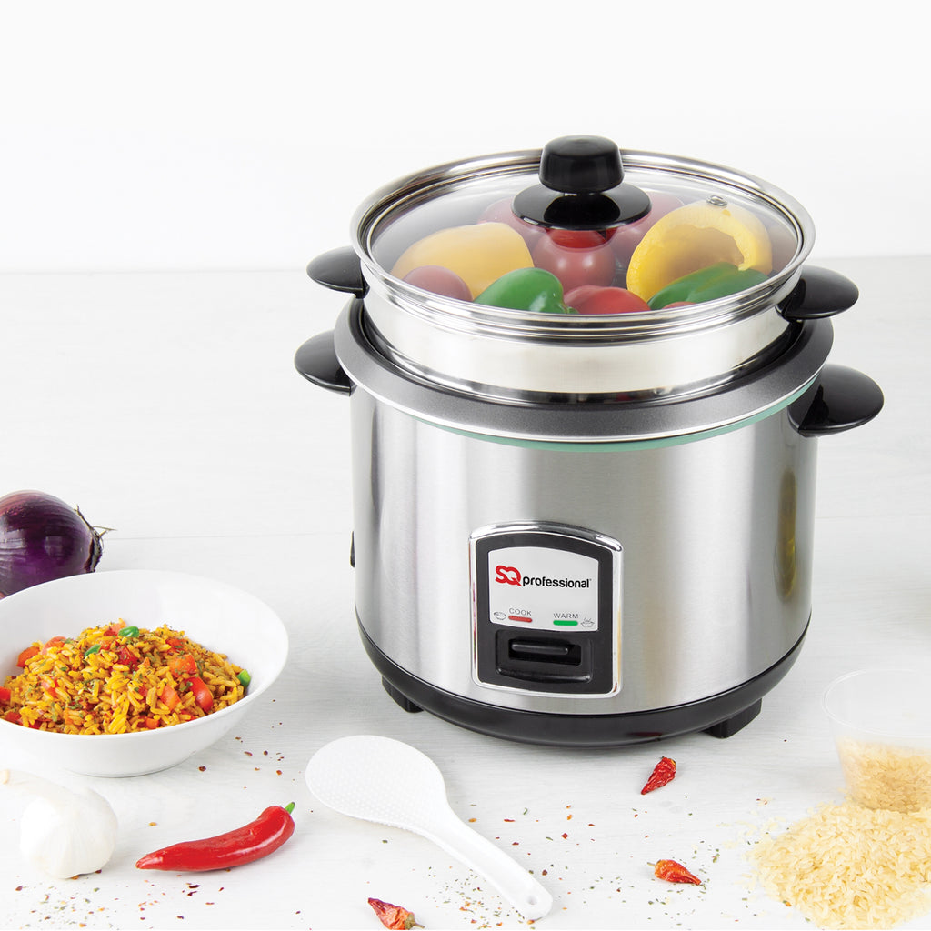 SQ Pro Stainless Steel Rice Cooker & Steamer - 1.8 L