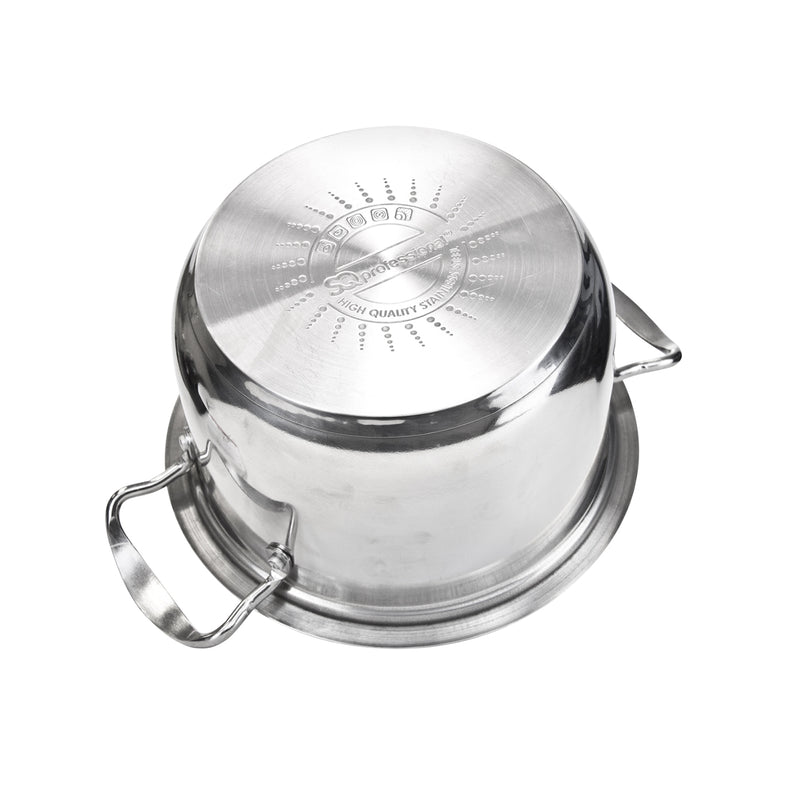 Gems Range Stainless Steel Casserole Set 4pc Stockpots with Lids - Silver