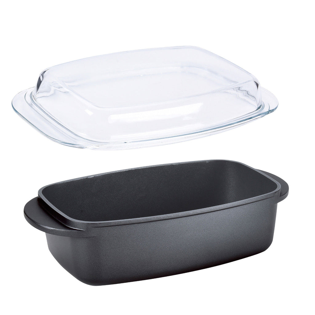 Nea Die-Cast Non-stick Roaster With Glass Lid - 32cm