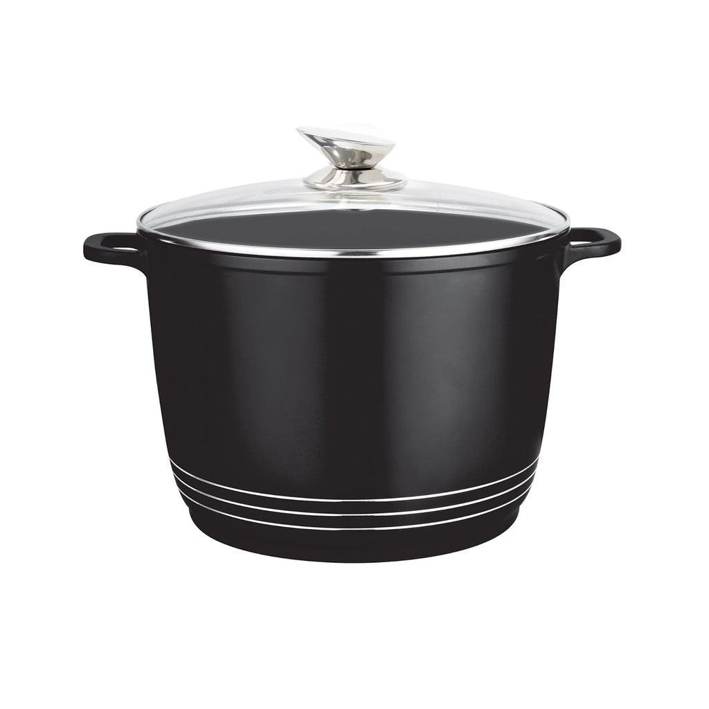 Nea Die-cast Casserole Stockpot With Induction Base - 24 cm, Black