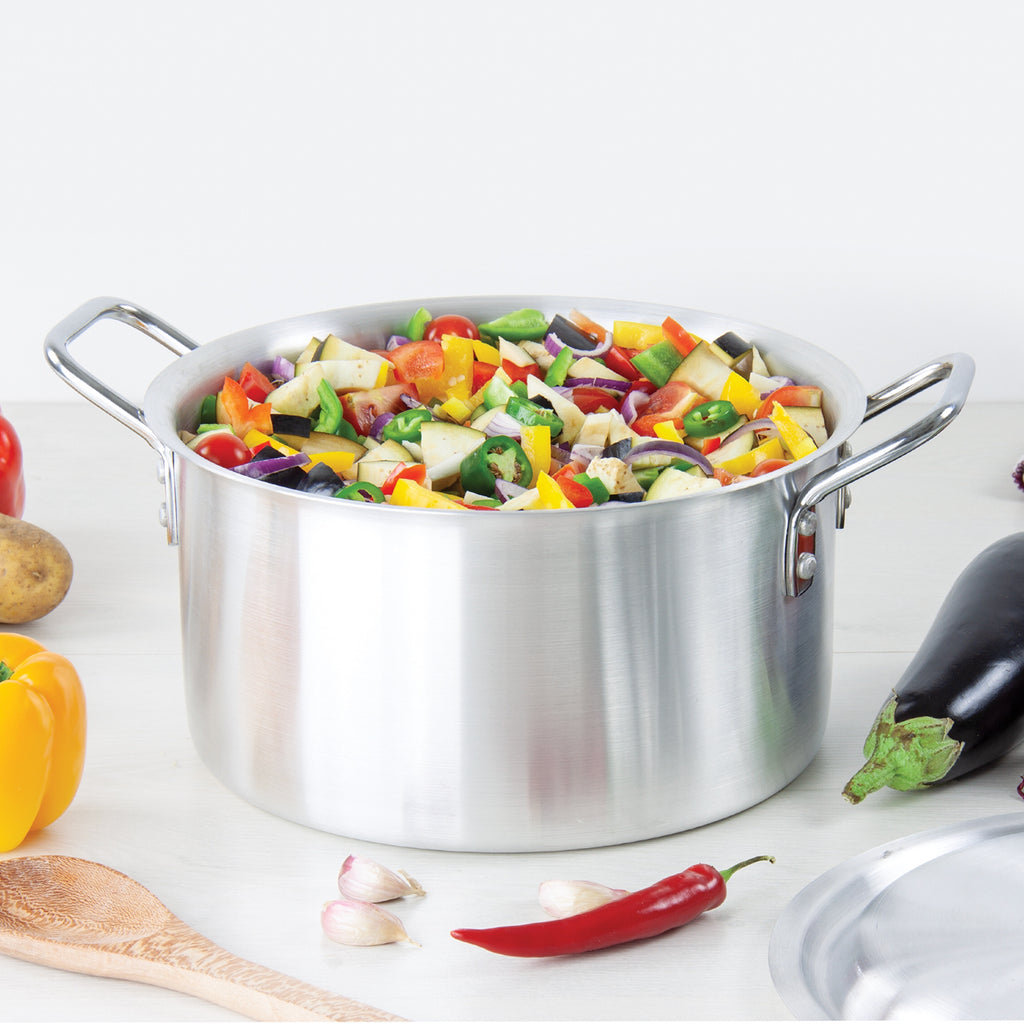 Orion Aluminium Casserole Stockpot With Lid - 31 cm (10.5L), Silver