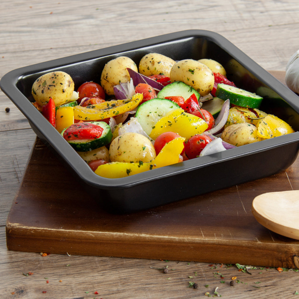 Non-stick Baking Tray, Square Roaster, 22 cm - Black