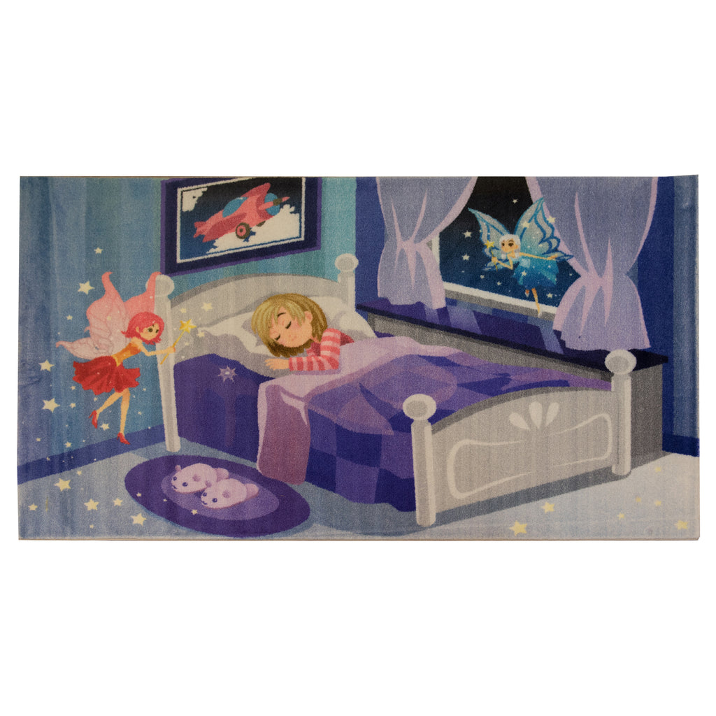 Tooth Fairy Purple Polypropylene Rug - 120 x 200cm, Thickness 15mm