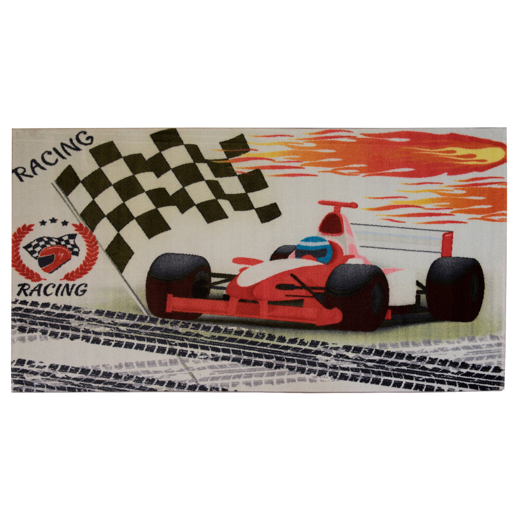Racing Red Polypropylene Rug - 120 x 200cm, Thickness 15mm