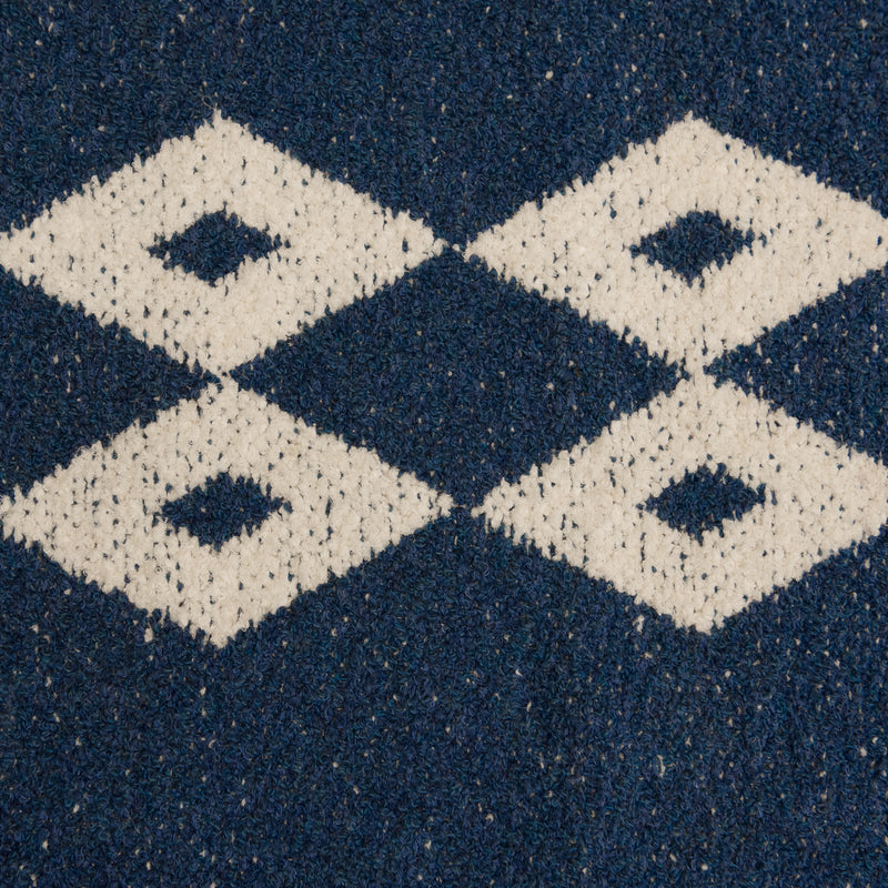 Two Faced Blue Cotton Rug - 84 x 212cm, Thickness 11mm