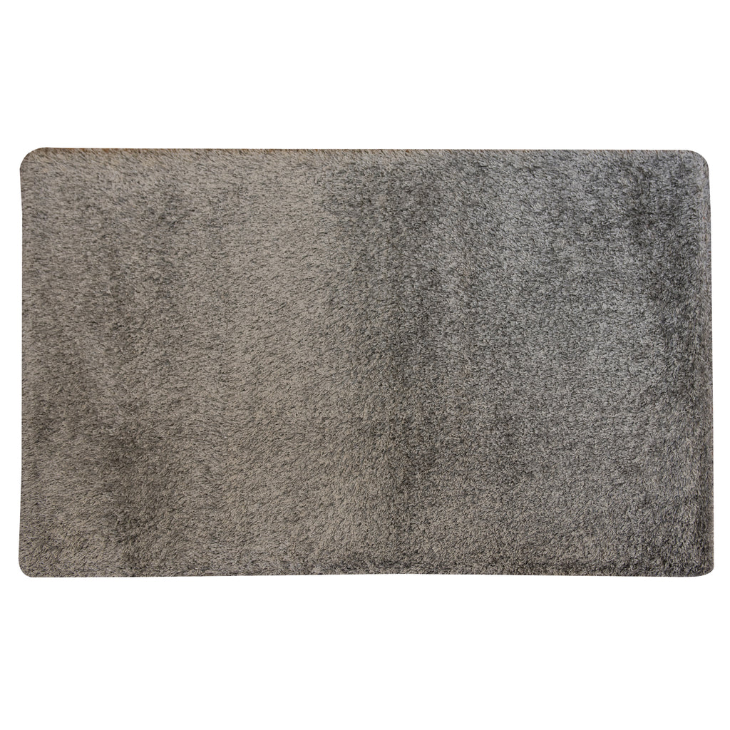 Mika Jewel Shaggy Grey Polyester/Polypropylene Rug - 160 x 230cm, Pile Height 30mm