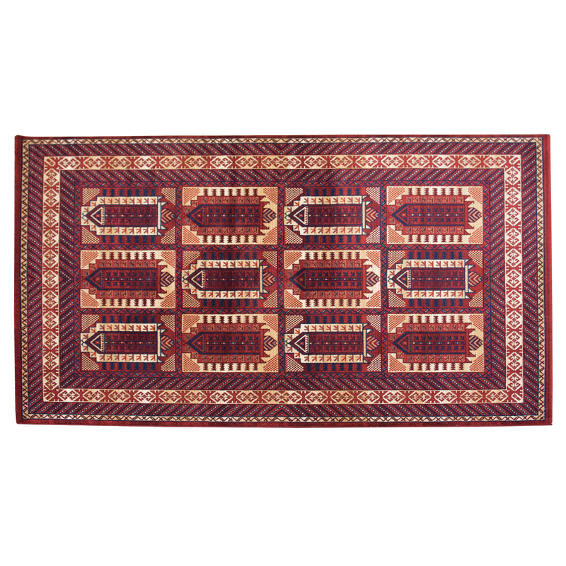 Ottoman Red Wool Rug - 160 x 235cm, Thickness 18mm