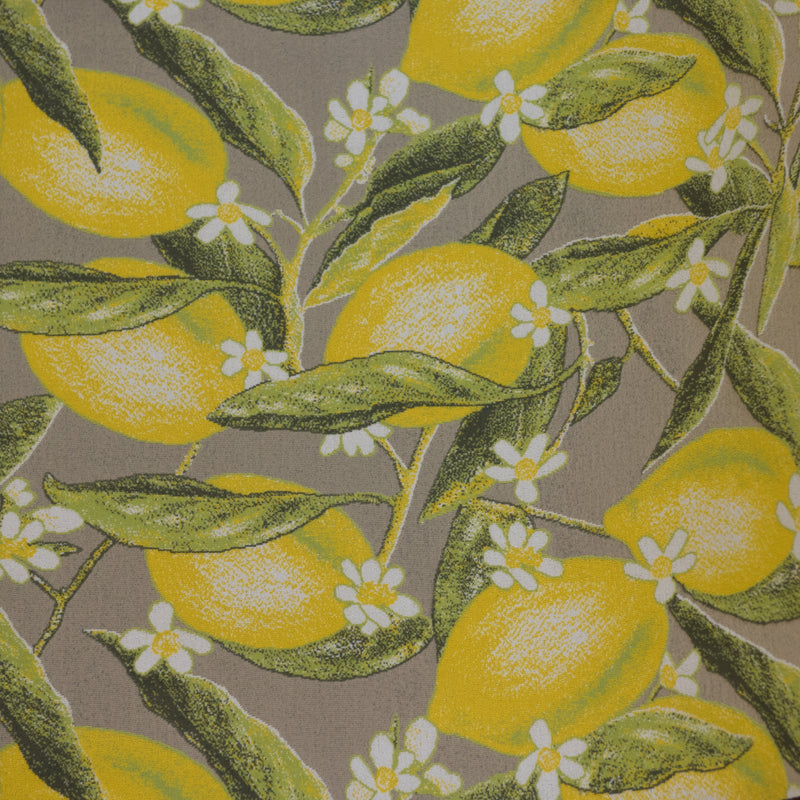 Lemons Yellow Polyamide Rug - 67cm Wide, Thickness 3mm, Sold Per Metre