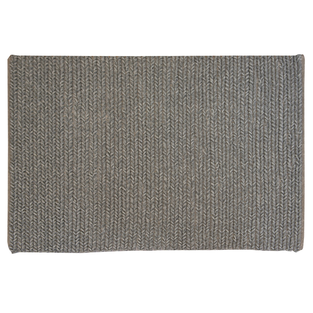 Erossetta Grey Wool Rug - 120 x 170cm, Pile Height 25mm