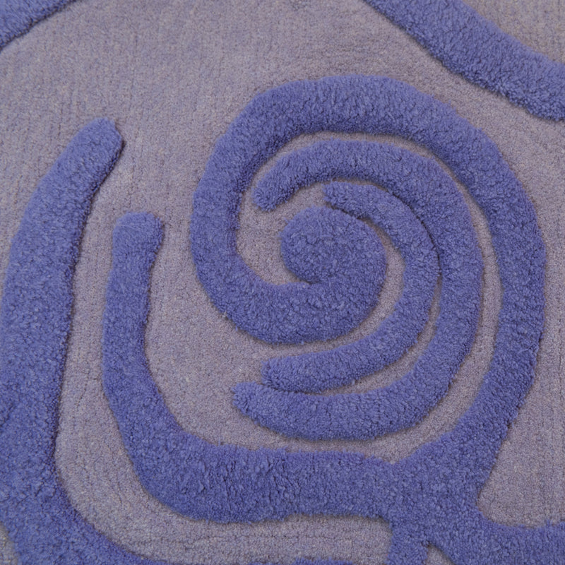 Lilac Purple Wool Rug - 130 x 170cm, Pile Height 20-25mm