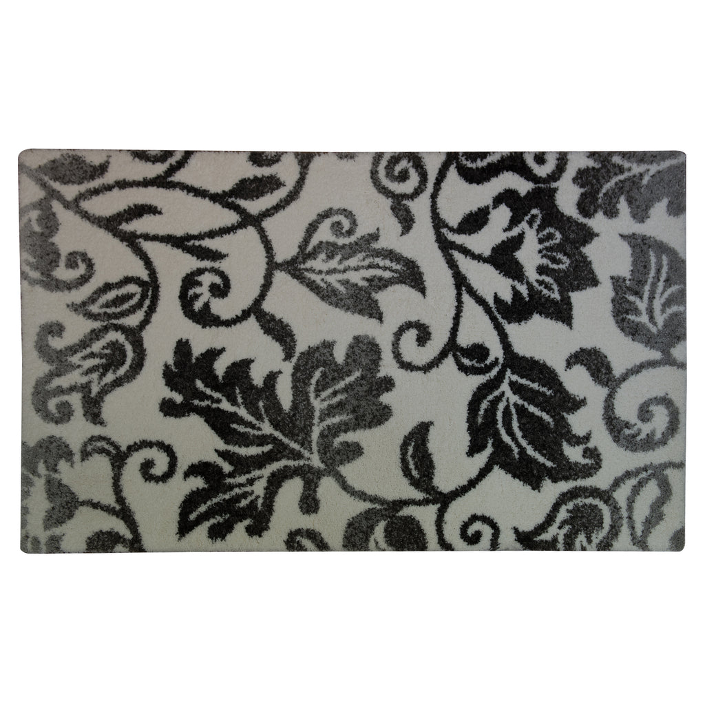 Mika Magic White/Grey Polyester Rug - 160 x 230cm, Pile Height 30mm
