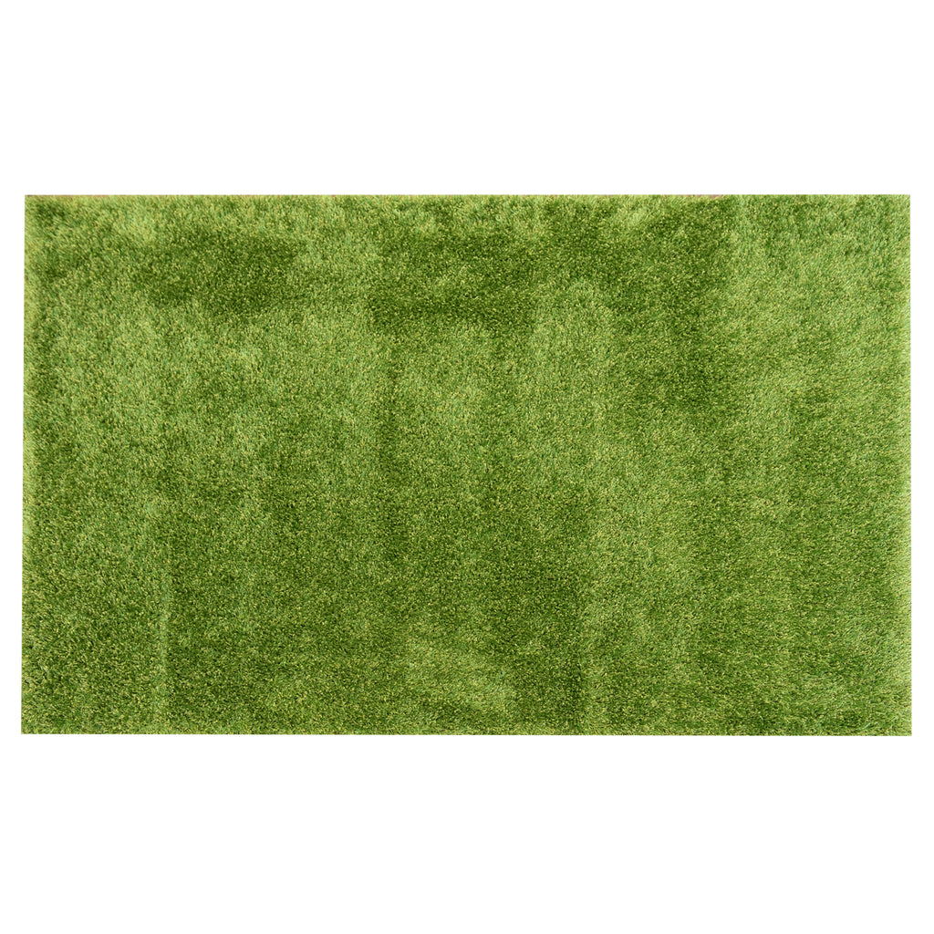 Field Green Polypropylene/Polyester Rug - 160 x 230cm, Pile Height 35mm