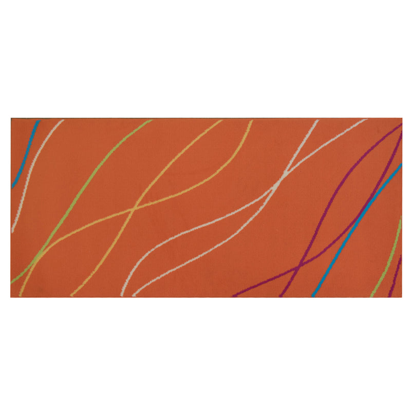 Flash Orange Polypropylene Rug - 80 x 150cm, Thickness 5mm