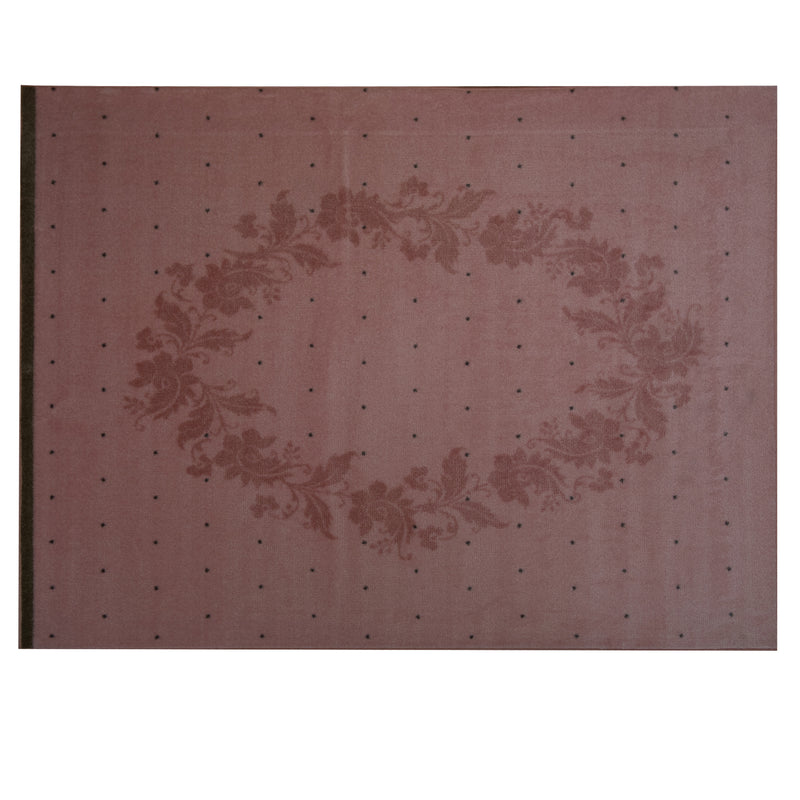 Baby Pink Polypropylene Rug - 133 x 160cm, Thickness 8mm