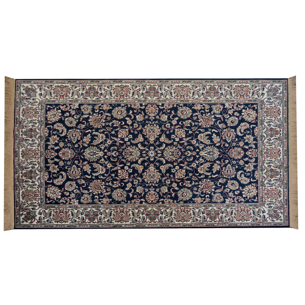 Taj Mahal Navy Polypropylene Rug - 160 x 230cm, Thickness 4mm