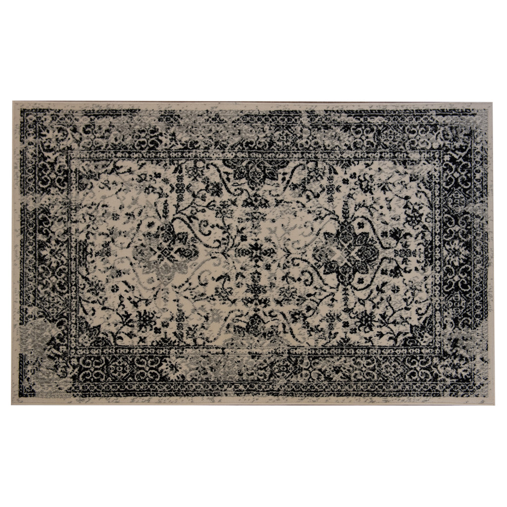 Laguna Black Mika Cream/Black Polypropylene Rug - 120 x 170cm, Thickness 8mm