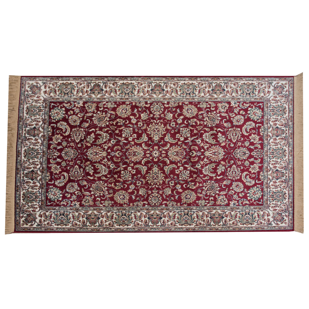 Taj Mahal Red Polypropylene Rug - 120 x 170cm, Thickness 4mm