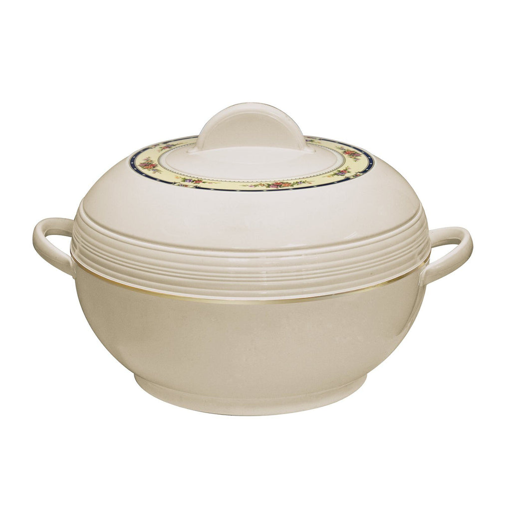 Serving Dishes - Insulated Serving Dishes-3pc Thermal Hot Food Containers Set 1.2,1.6&2.5L, Cream