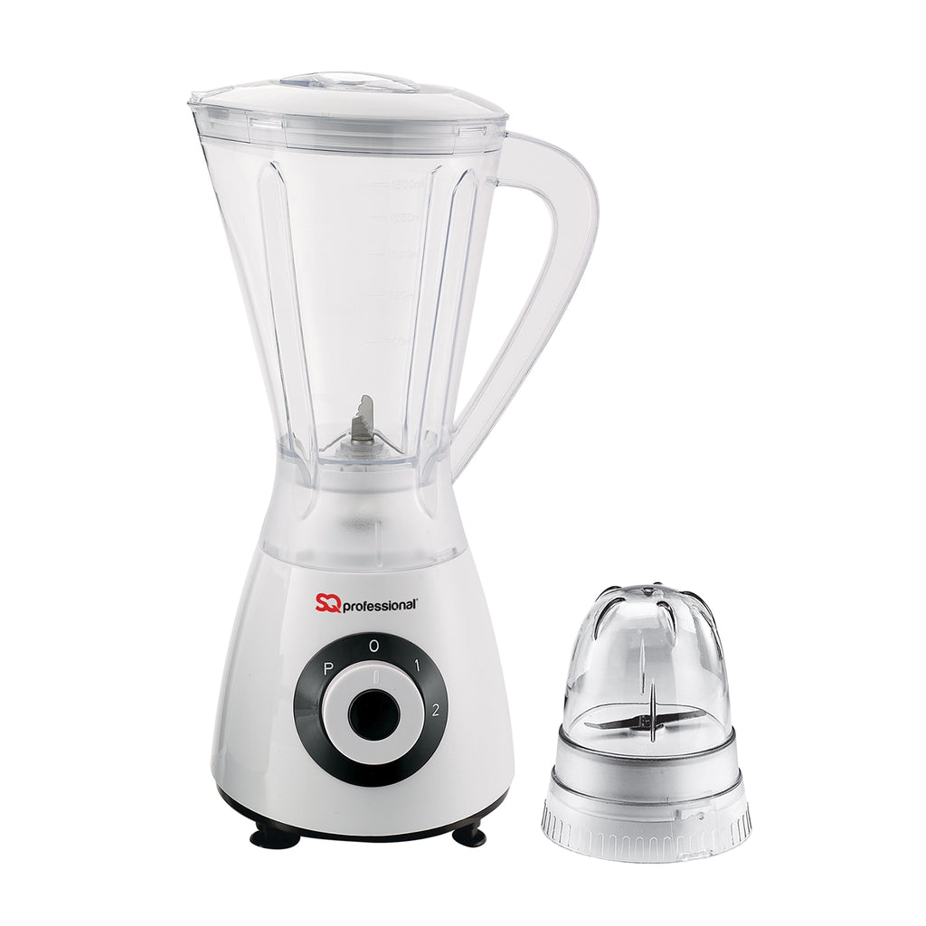Superblend 1.5L Blender & Grinder with Two Speed & Pulse Function - White/Black