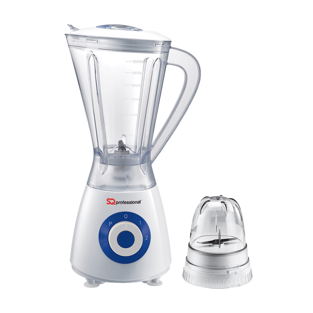 Superblend 1.5L Blender & Grinder with Two Speed & Pulse Function - White/Blue