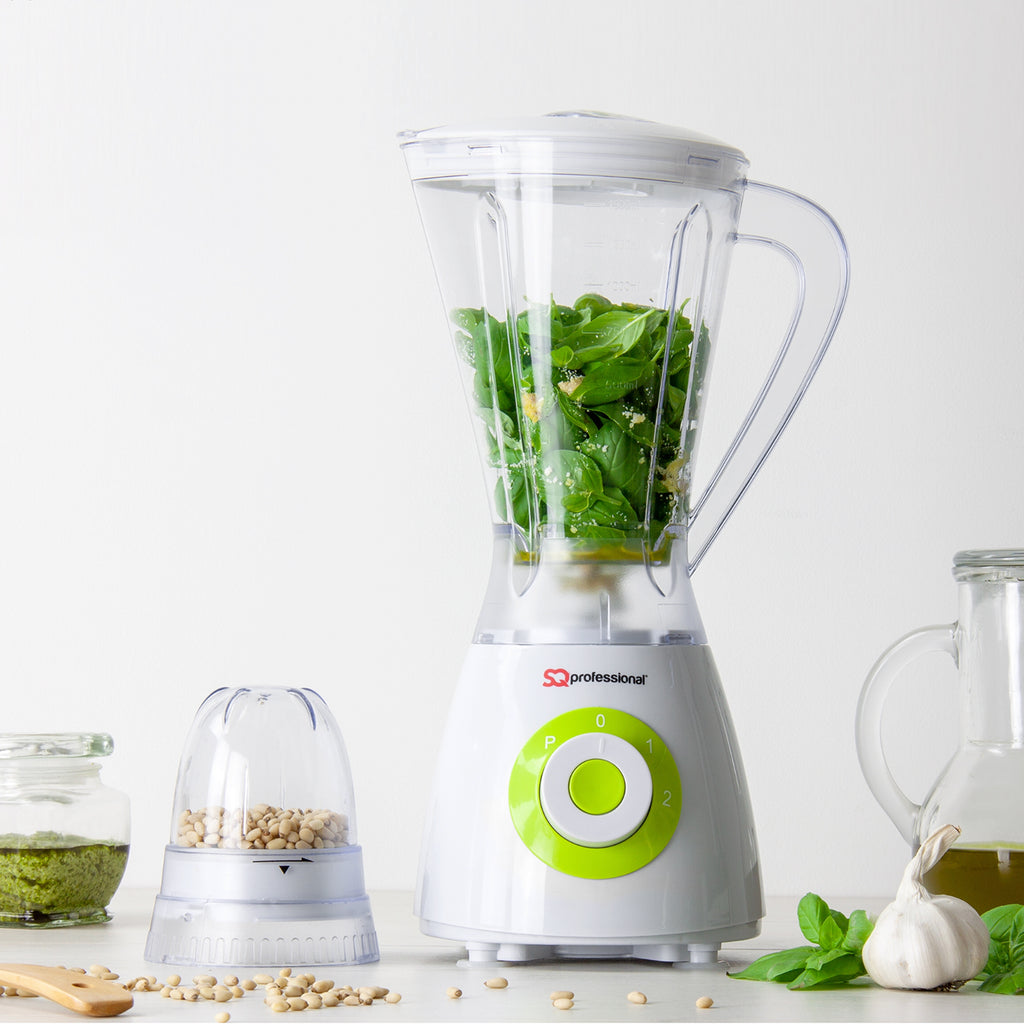 Superblend 1.5L Blender & Grinder with Two Speed & Pulse Function - White/Green