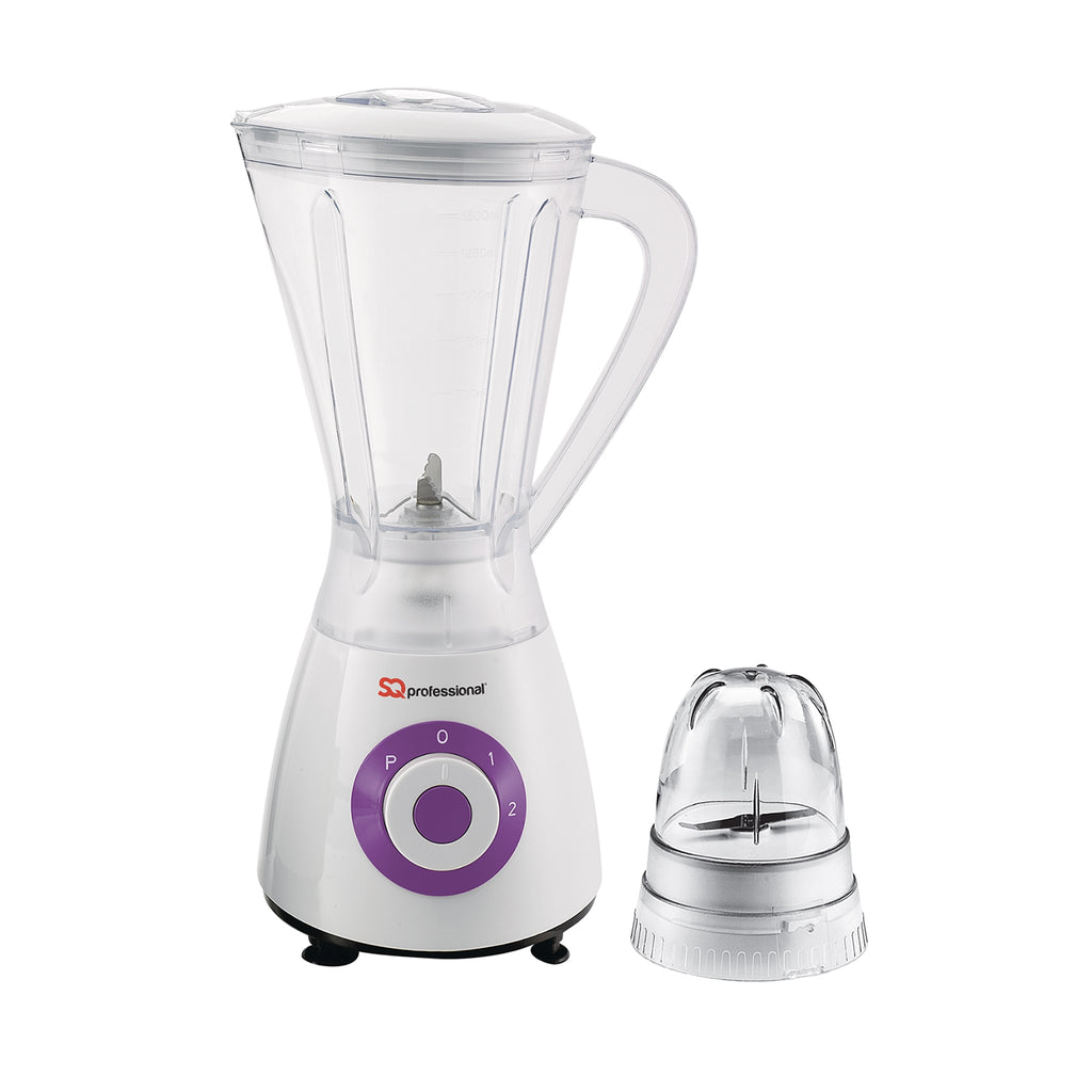 Superblend 1.5L Blender & Grinder with Two Speed & Pulse Function - White/Purple