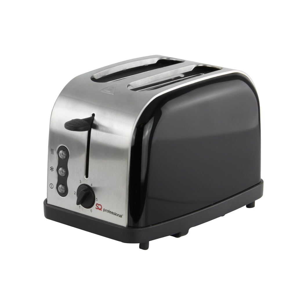 Legacy 900W Toaster with Reheat, Defrost & Cancel, Stainless Steel - Black