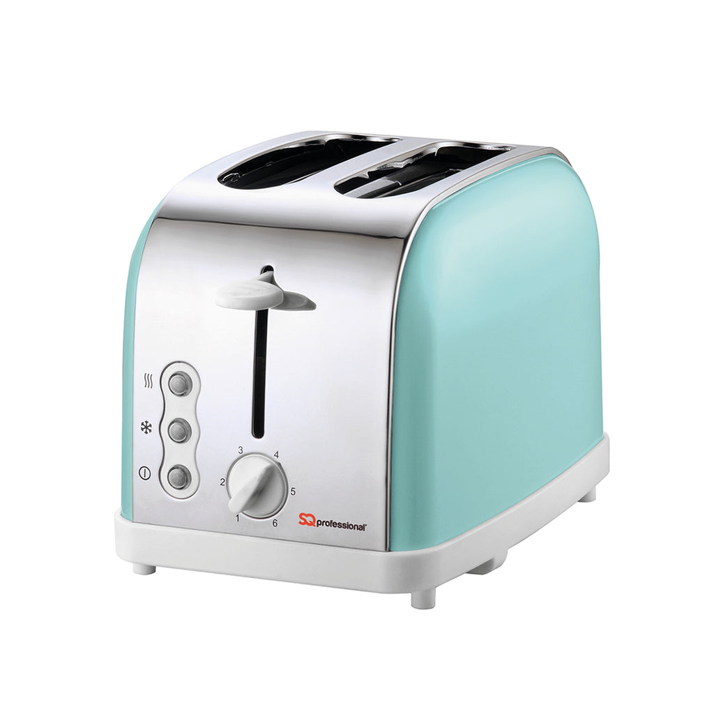 Legacy 900W Toaster with Reheat, Defrost & Cancel, Stainless Steel - Mint Green