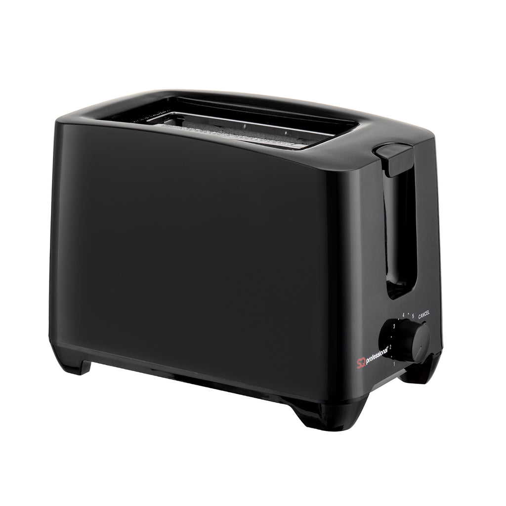 Two Slice Toaster with Cancel Function & Browning Control, 750W, Plastic - Black