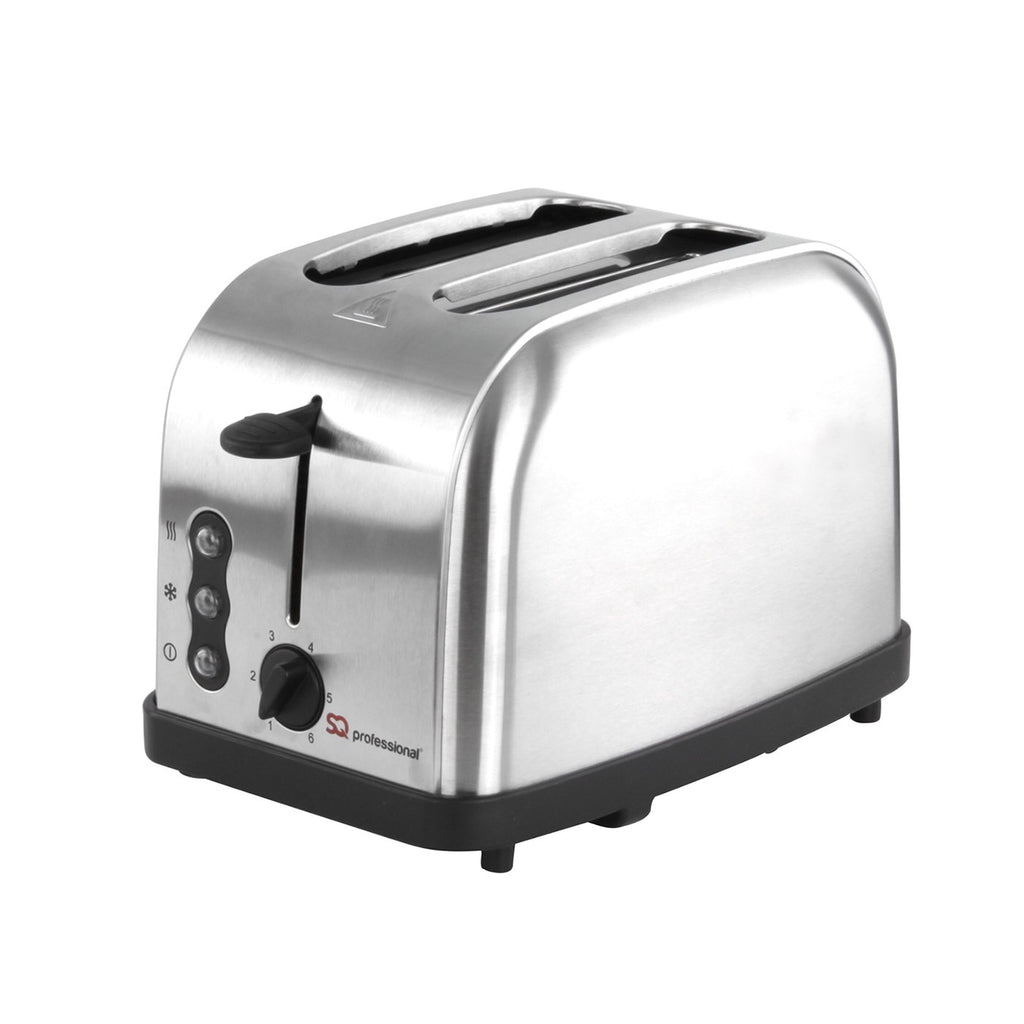 Toasters - Legacy 900W Toaster With Reheat, Defrost And Cancel, Stainless Steel - Silver