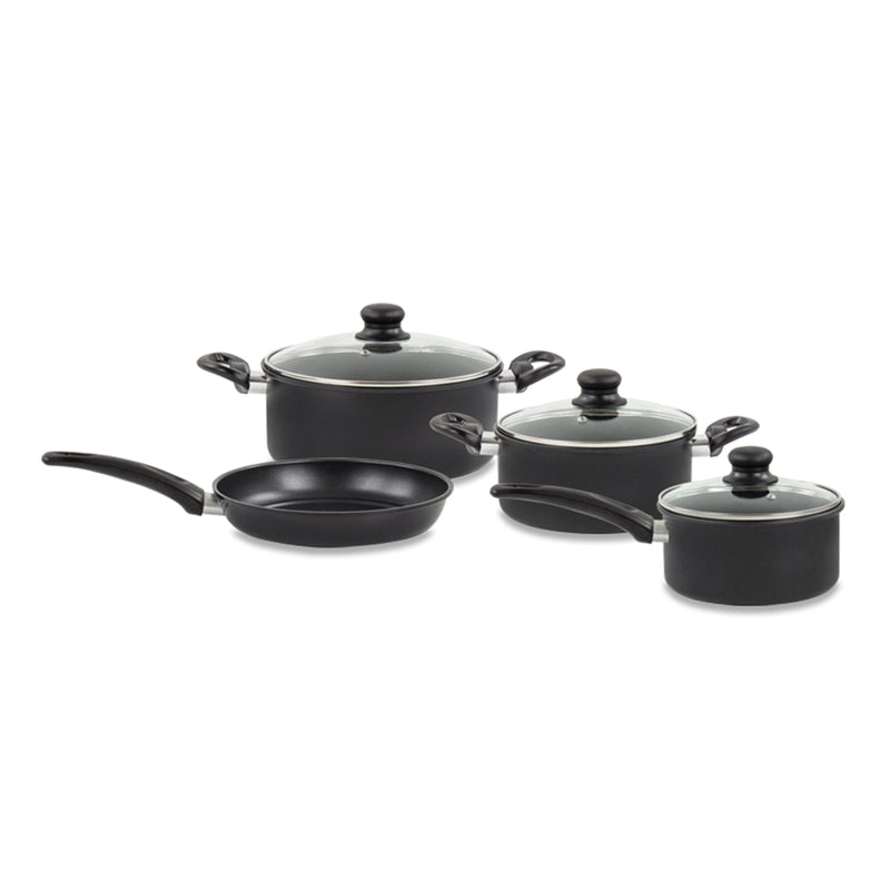 4 Piece Non-stick Cookware Set - Frying Pan, Saucepan & 2 Stockpots