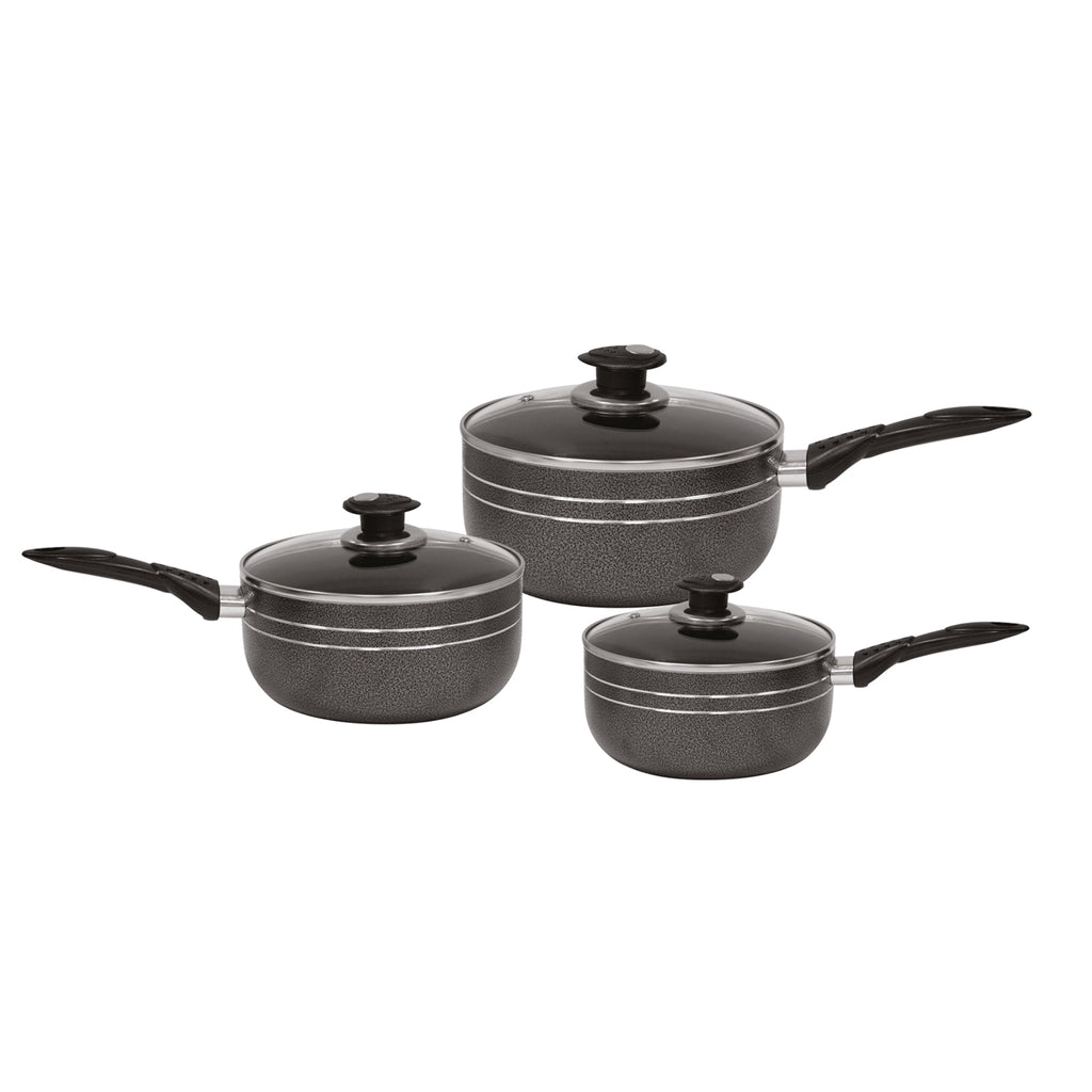 Una Non-stick Saucepan set 3 pcs Induction Base 16cm, 18cm & 20cm