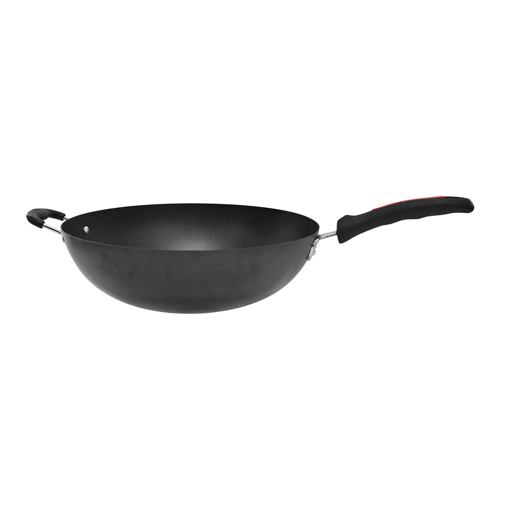 Ultimate Non-stick Wok with Long Handle & Helper Handle, Carbon Steel - 34cm