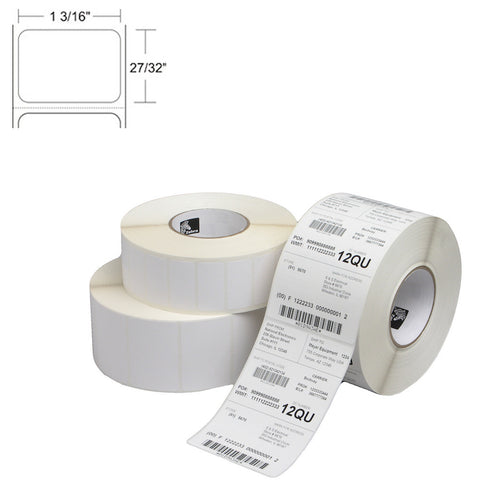 "Zebra 1.20"" x 0.85"" Thermal Transfer Barcode Labels"
