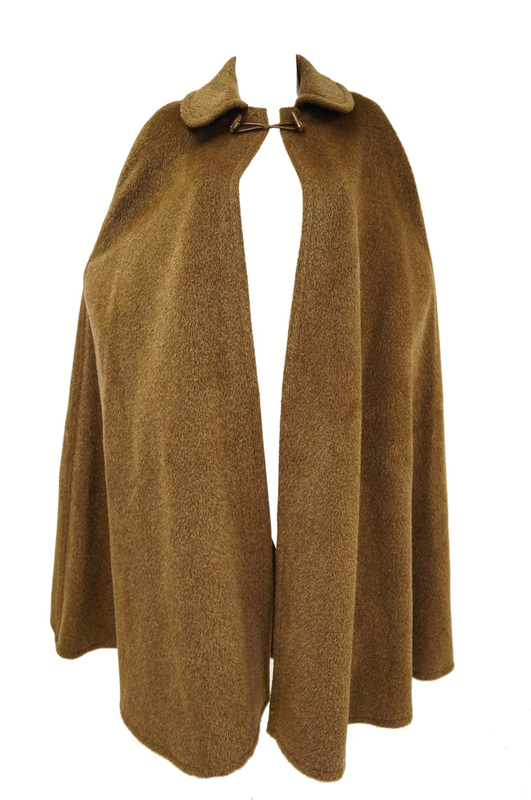 1970s Yves Saint Laurent Caramel Wool Cloak