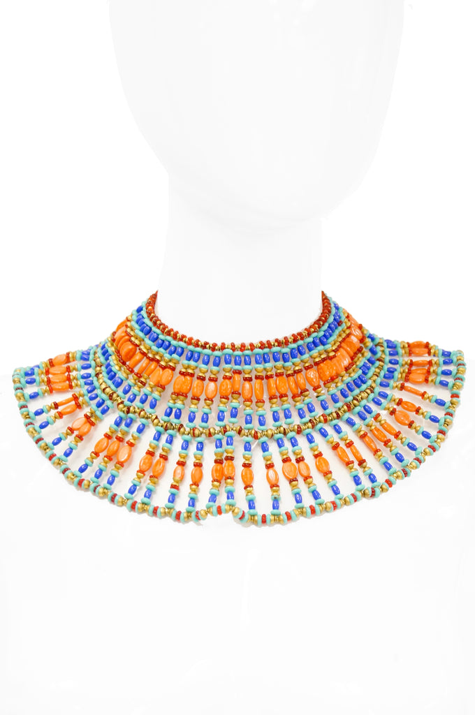 1970s Miriam Haskell Egyptian Revival Choker Necklace by Vrba NWT