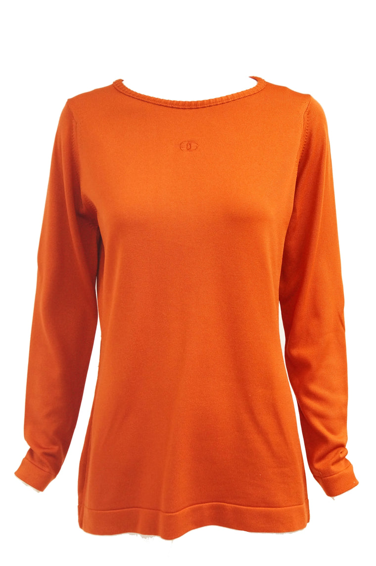 1970s Givenchy Sport Tangerine Orange Pullover Sweater