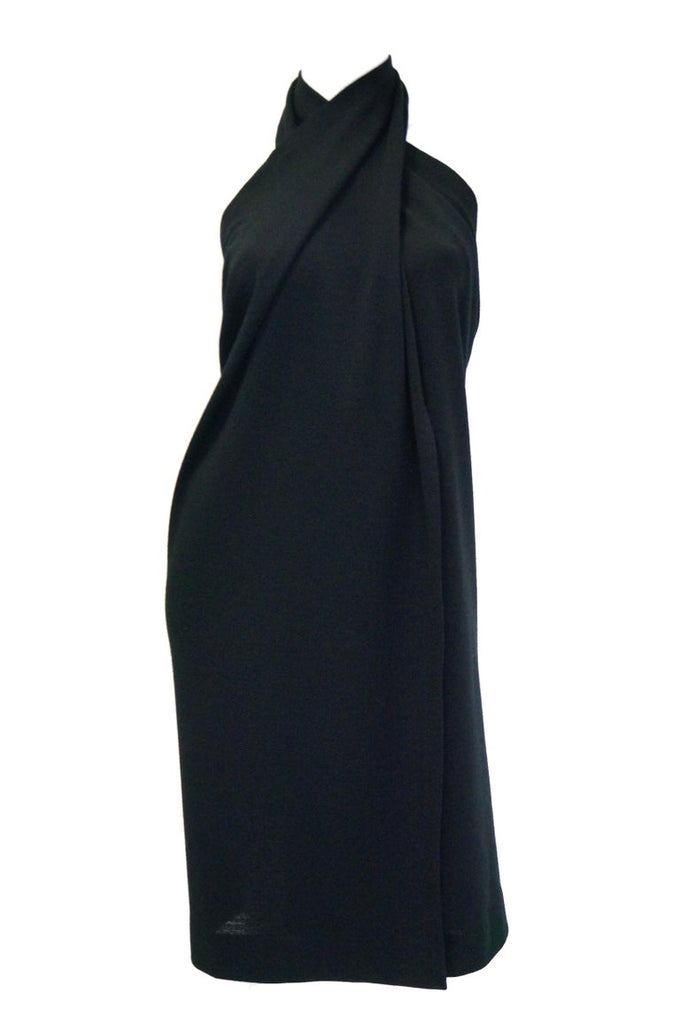 "1985 Donna Karan ""Seven Easy Pieces Collection"" Black Wool Wrap Skirt"