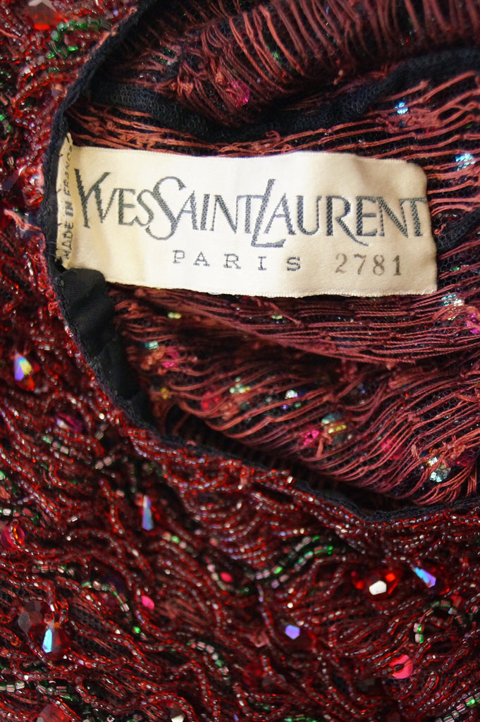 1963 Yves Saint Laurent Couture Evening Dress Owned by Claudette Colbert