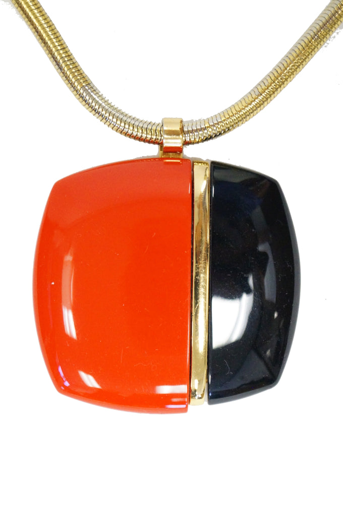 1970s Lanvin Lucite Medallion Necklace
