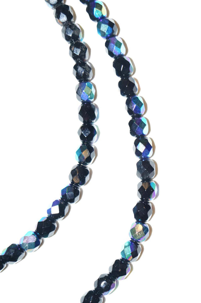 Vintage Givenchy Iridescent Glass Bead Opera Length Necklace