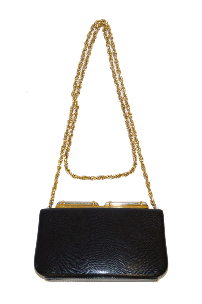 1980s Rodo Embossed Leather Crossbody Clutch