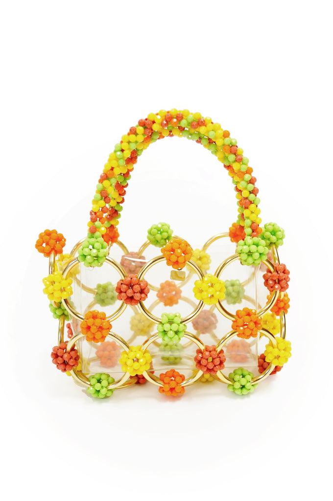 1960s Italian Beaded Handbag Made Exclusively for Bergdorf Goodman