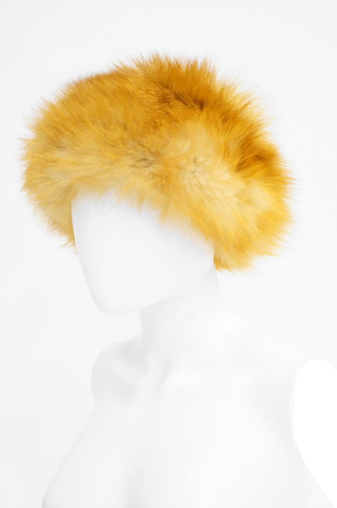 1960s Vincent & Bill Gold Fox Fur Hat