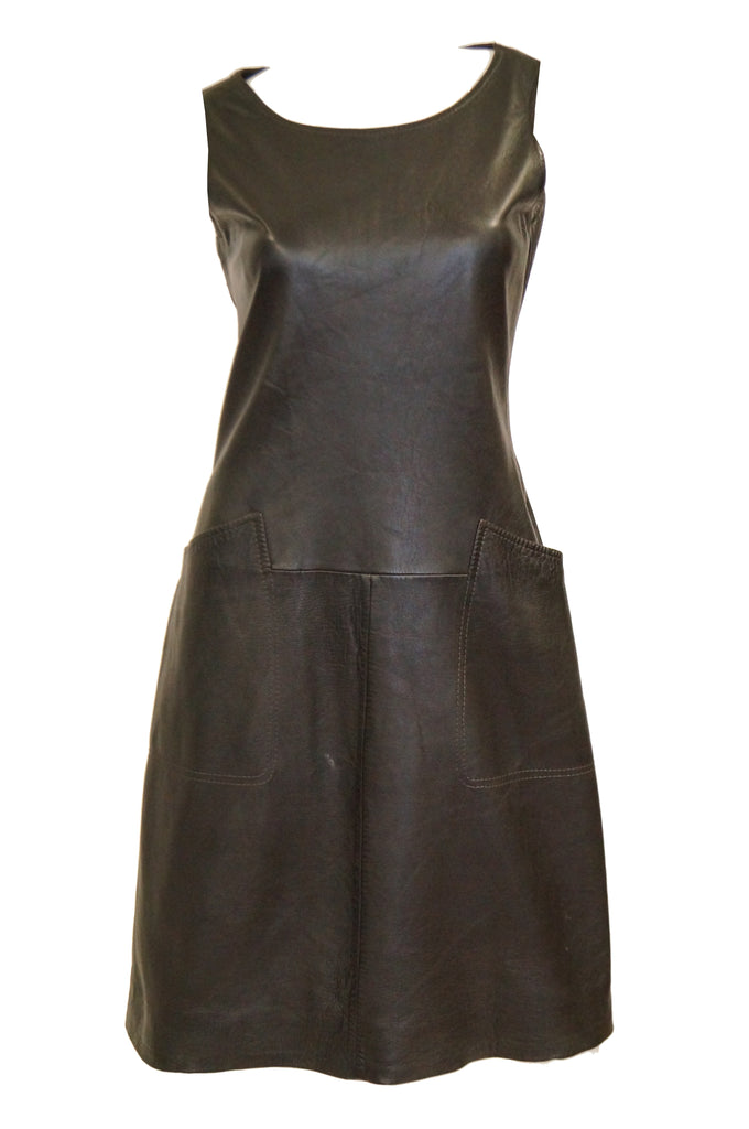 1960s Lambskin Leather Shift Dress