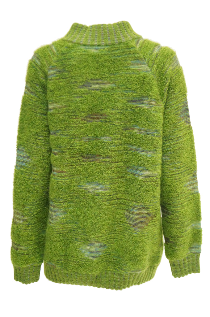 Missoni Moss Green Mohair & Wool Space Dyed Sweater