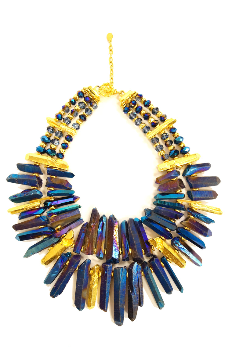 21st Century Jose and Maria Barrera Iridescent Rock Crystal Necklace
