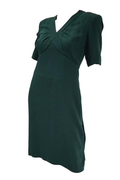 d8ff1d4884f8 1990s Dior Haute Couture Green Silk Cocktail Dress, Numbered $1,200.00 USD